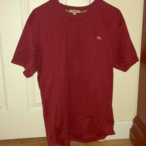 Red Burberry tee